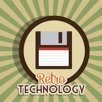 レトロとビンテージのテクノロジーグラフィック
