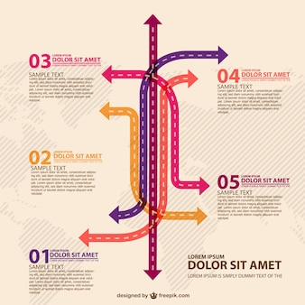 Retro arrows infography