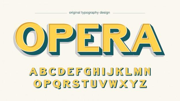 Ретро арт деко желтый жирный типография
