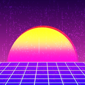 Retro background 80s design