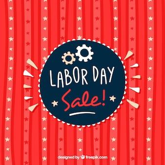 Retro background of labor day rebates