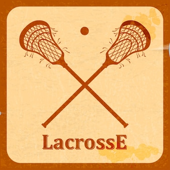 Retro background lacrosse.