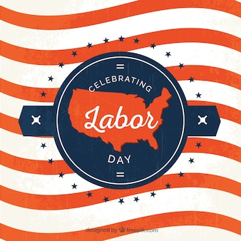 Retro background of labor day waves