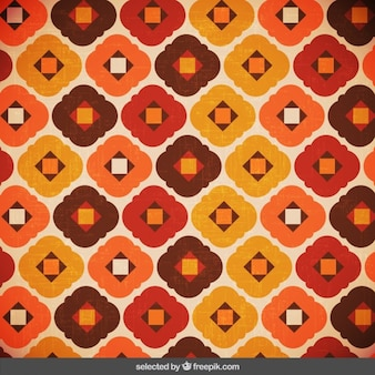 Retro background with abstract shapes