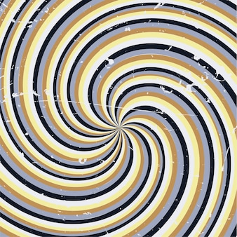 Retro background with a grunge swirl design