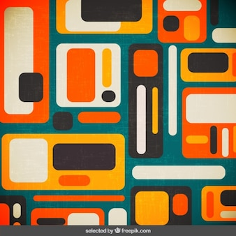 Retro background with rounded shapes