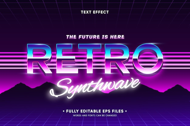 Retro background with text effect Free Vector
