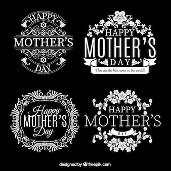 Retro badges for mothers day