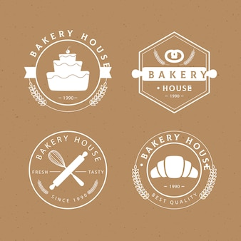 Retro bakery badge collection