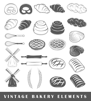 Retro bakery elements