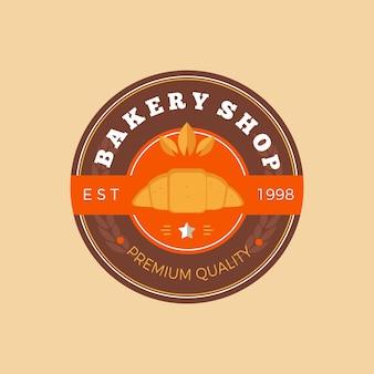 レトロなパン屋さんのロゴのコンセプト