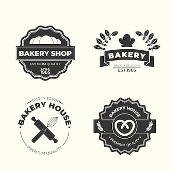 Retro bakery logo template