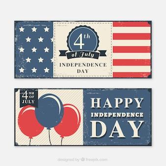 Retro banner per la giornata dell'indipendenza dell'ussa