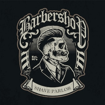 Retro barbershop patch