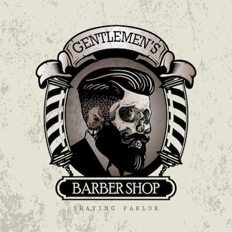 Retro barbershop sign
