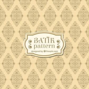 Retro batik pattern