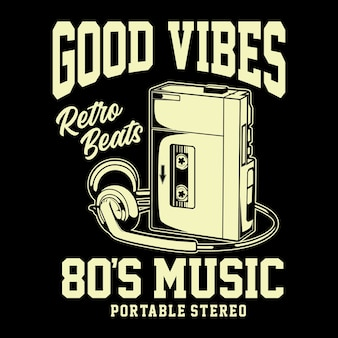 Retro beats graphic