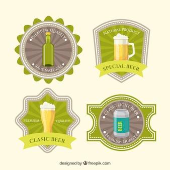Imballaggio retro adesivi di birra