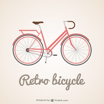 Retro bicycle background