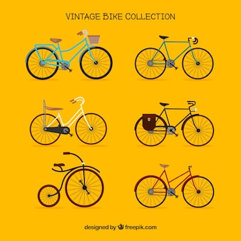 Retro bicycle collection