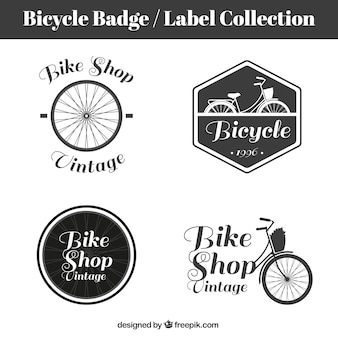 Retro bicycles badges and labels