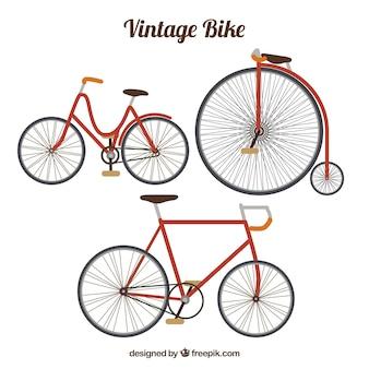 Набор ретро-велосипедов
