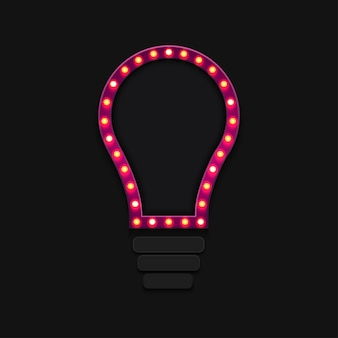 Retro billboard  light bulb