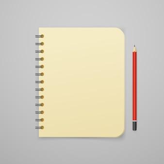 Retro binder vector illustration. vector branding mockup
