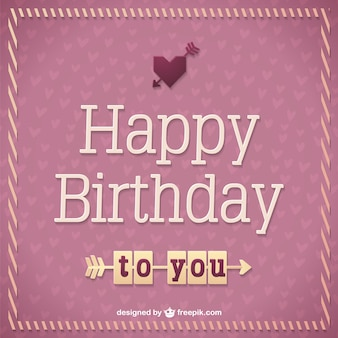 Retro Birthday Card