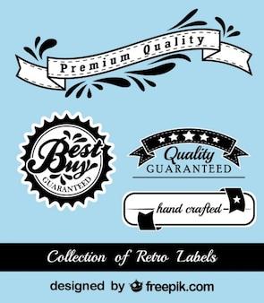 Retro black and blue stickers