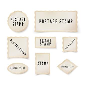 Ретро пустая почтовая марка с перфорированной каймой