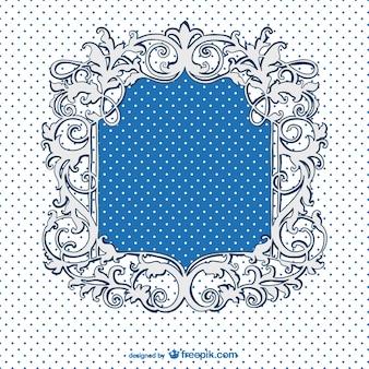 도트와 레트로 블루 프레임