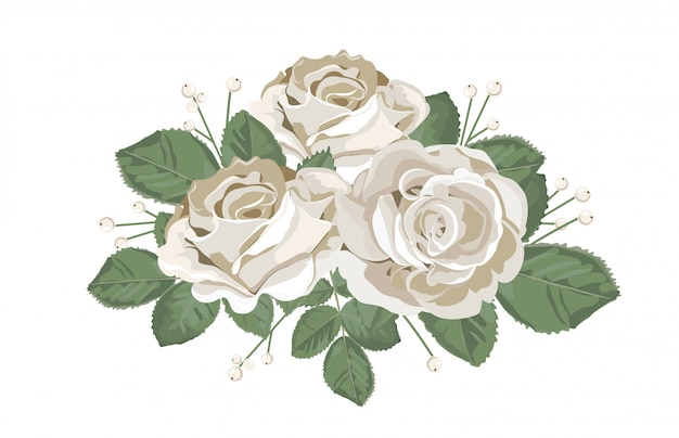 Retro bouquet design