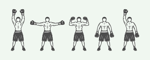 Retro boxers set