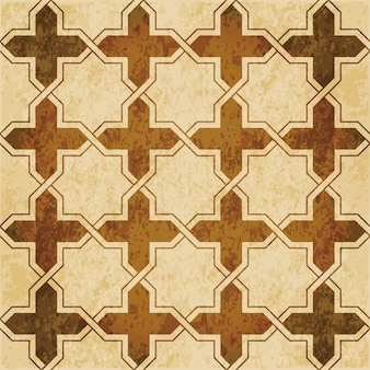 Retro brown islam seamless geometry pattern background eastern style ornament