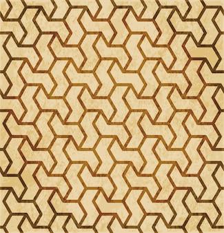 레트로 브라운 이슬람 완벽 한 기하학 패턴