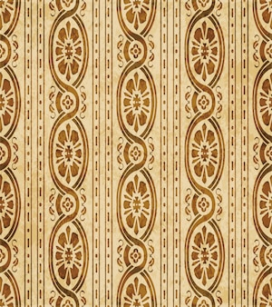 레트로 브라운 질감 원활한 패턴, 곡선 크로스 나선형 프레임 꽃 덩굴 라인