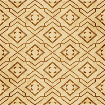 레트로 브라운 질감 된 완벽 한 패턴, 스타 형상 체크 나선형 크로스 프레임