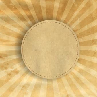 레트로 브라운 빈티지 스퀘어 햇살