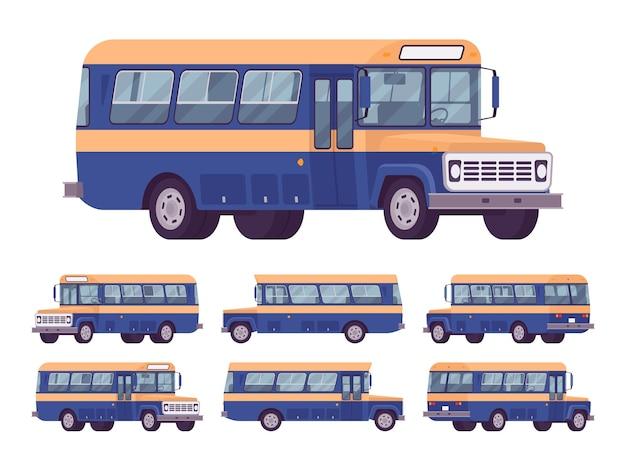 레트로 버스 세트