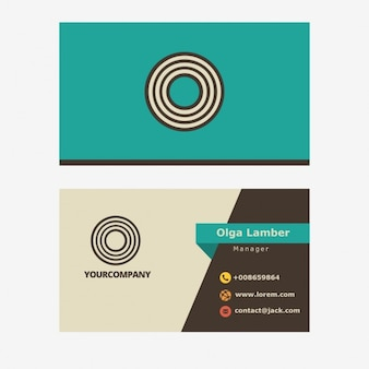 Retro business card with letter o