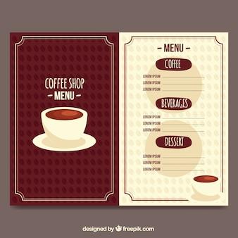 Retro cafe menu