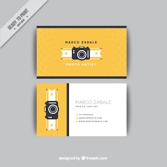 Retro camera business card