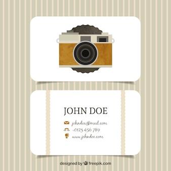 Retro camera photo studio card