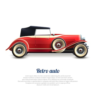 Retro car banner