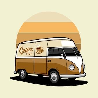 레트로 자동차 커피 숍