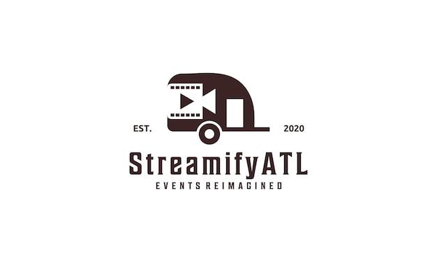 Retro car design broadcast design logo