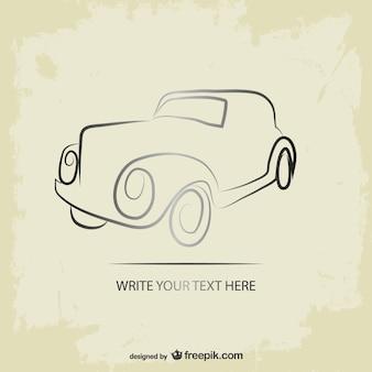 Retro car grunge logo vector