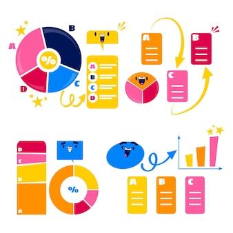 Ретро мультяшные речевые пузыри, стрелки и наклейки с элементами инфографики