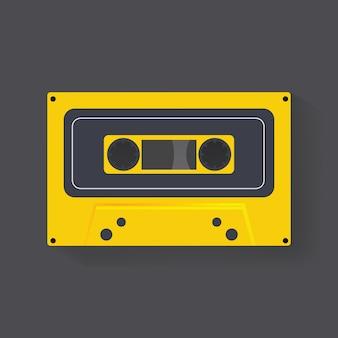 Retro cassette tape music record  icon illustration vector